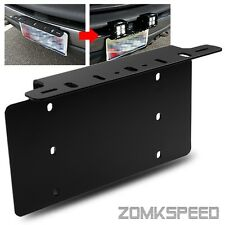 Front Bumper License Plate Mounting Bracket for Offroad Work Lamp/LED Light Bar