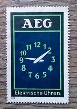 Original Modernist Poster stamp AEG Electric Clock Peter BEHRENS c.1910 Bauhaus