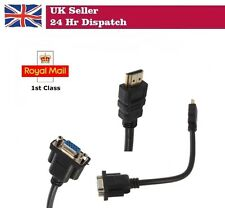 HDMI Male to VGA HD-15 Male 15 pin Adapter Cable For HDTV