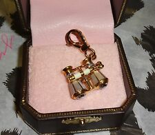NWT Juicy Couture Opera Glasses Charm Bracelet, Necklace or Handbag