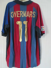Barcelona Overmars 11 Home Football Shirt Size XXL /37968