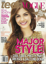 Victoria Justice Teen Vogue Oct 2012 Lauren Conrad Young Hollywood Issue SEALED