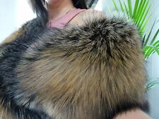 Real Gold Fox Fur stole,wrap,scarf, Boa size XL
