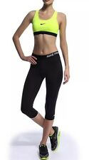 Womens Nike Pro Capri Training Pants Running Gym Tights LTD Edition BLACK