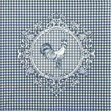 4x Single Table Party Paper Napkins for Decoupage Decopatch Craft Rooster Blue