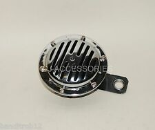 Motorcycle Horn 12V Slitted Chrome with Bracket Streetfighter Cafe Racer Custom