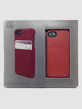 HEX Solo Wallet Leather Hard Case w/ID Card Slots for iPhone SE & iPhone 5s RED