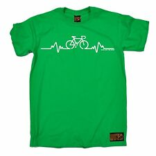 Bike Pulse T Shirt slogan tee gift cycling bicycle present riding medic doctor