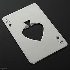 Appliqué Inoxydable Poker Carte As de pique Bouteille Bière Cap Décapsuleur