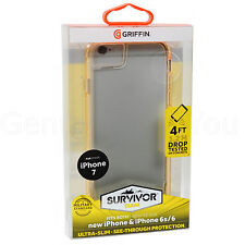 Genuine Griffin Survivor Clear Case Cover Bumper Frame For iPhone 7/6S/6 - Gold