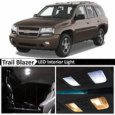 10x White LED Lights Interior Package Kit for 2002-2009 Chevy Trailblazer + TOOL