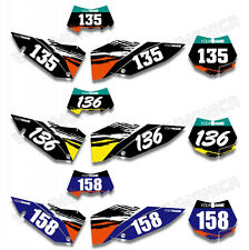 Custom Background Number Plate Graphics Kit For KTM SX XC XC-W EXC 08 09 10 2011