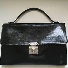 Louis Vuitton Black Large Monogram Glace Anouchka Clutch Bag Serviette Pochette