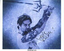 BAM MARGERA HAND SIGNED 8x10 COLOR PHOTO+COA          SEXY+SHIRTLESS WITH  SWORD