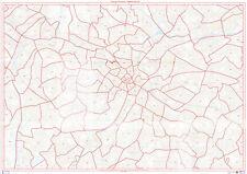 Postcode City Sector Map of Birmingham 120gsm Matt Paper Unlaminated