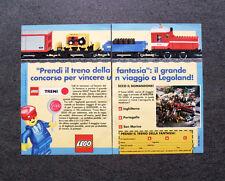 I238-Advertising Pubblicità-1990- LEGO TRENI , CONCORSO VIAGGIO LEGOLAND