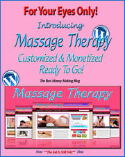 Massage Therapy Blog Self Updating Website Clickbank Amazon Adsense Affiliates**