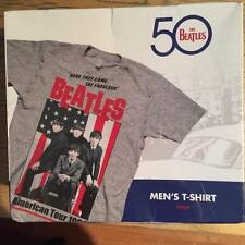 The Beatles 50 Men's T-Shirt Large by Bravado Large American Flag 1964 tour