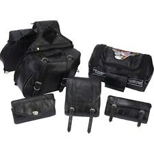 6 Pc Motorcycle Luggage Bag Set Saddlebags Windshield Bag Fits Harley Universal