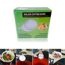 60 Second Salad Maker Healthy Salad Bowl Easy Cutting Clean Machine Tool Boxed