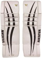 "New Vaughn 1000 Goal Sr ice hockey leg pads 32""+2 Black/White Velocity V6 goalie"