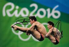 tom daley daniel goodfellow diving rio olympic final signed 12x8 photo PROOF