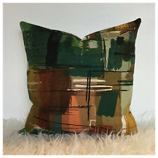 Vintage 50s 60s Sanderson Stones Of Bath John Piper Cotton Fabric Cushion Cover