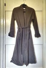 Grey 100% cashmere wool dressing gown robe Penhaligons small S