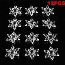 12pcs Christmas Snowflakes Decoration Festival Party Xmas Tree Hanging Ornaments