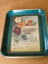 Great Vintage Burpee's 1898 Farm Annual Seeds Advertisement Tin Tray 1996 ?