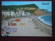 POSTCARD DEVON SIDMOUTH - THE BECH & ESPLANADE