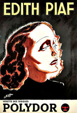 Edith Piaf  Polydor Singer  Chic Deco   Poster Print
