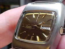 VINTAGE MANS SEIKO WATCH S/S TV STYLE CASE MODEL 6106-5419 17J AUTOMATIC NICE TW