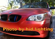 BMW E60 LCI LED SMD angel eyes halo ring DRL light Retrofit Headlight White