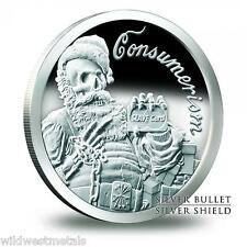 Santa Slave - Consumerism Proof - 1 oz .999 Silver Shield/ SBSS - 2013 Original