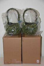 Pottery Barn Set of 2 Green Vine Covered Decorative Easter BASKET NEW SOLD OUT