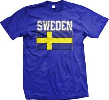 Sweden Swedish Flag Country Colors Nationality Ethnic Pride -Mens T-shirt