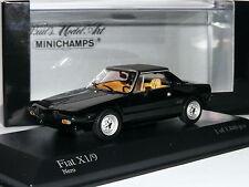 Minichamps 1974 Fiat X1/9 Black LTD ED 1/43