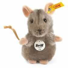 Steiff Piff Standing Pet Mouse Cuddly Soft Grey Plush 10cm Wild Animal 056222