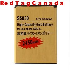 2450mAh High-Capacity Gold Li-ion Business Battery for Samsung S5830 GALAXY Ace