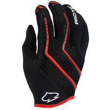 Pro-Tech Hands Down Cycling/Bicycle Full Finger Gloves Black/Red Small