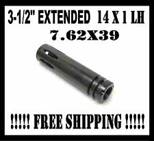 "NEW 14 X 1 LH 3.5"" EXTENSION COMPENSATOR/MUZZLE BRAKE 7.62X39 MADE IN THE U.S.A."