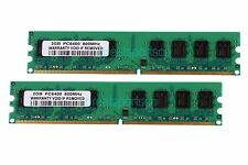 4GB 2X 2GB PC2-6400U 2RX8 DDR2 800MHz 240pin DIMM Desktop Memory RAM PC6400 CL6
