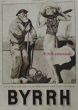 PUBLICITE BYRRH SOUS TOUS LES CIEUX VOILIER MER SIGNE LEONNEC DE 1932 FRENCH AD