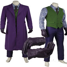 Original The Dark Knight Joker From Batman Cosplay Costume Full Suit Halloween