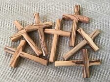 Set 7 Olive Wood Crosses Holy Land Jerusalem Bethlehem Cross Handmade Crosses