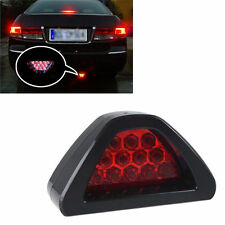F1 12 LED Rear Tail Third Brake Stop Light Red Strobe Safety Fog Lamp Universal