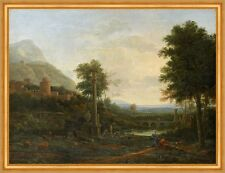 Landscape with a Column and Figures Claude Lorrain Landschaft Bauwerk B A1 01206