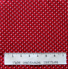 Patriotic Fabric - Small Blue & White Stars on Red - Cotton YARD