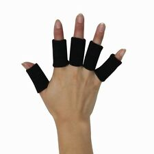 10 BLACK FINGER SWEATBANDS PADS SUPPORTS ARTHRITIS SLEEVES FINGERS SPORT BANDAGE